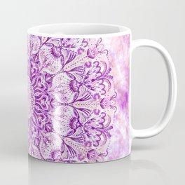 Lavender & Lilac Watercolor Mandala , Relaxation & Meditation Circle Pattern Coffee Mug