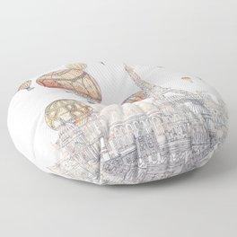 Voyages Over Paris ~ Refresh Floor Pillow