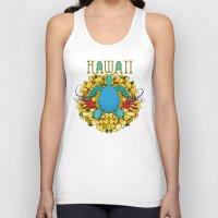 hawaii Tank Tops featuring Hawaii by Renee Ciufo