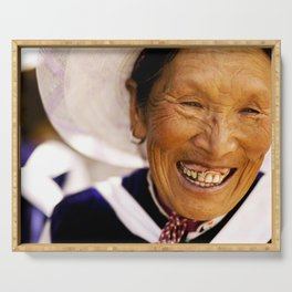Happy Grandma_Smiling Face Serving Tray
