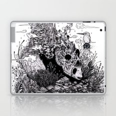 Land of the Sleeping Giant (ink drawing) Laptop & iPad Skin