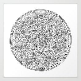 Celtic Swirl Mandala Art Print