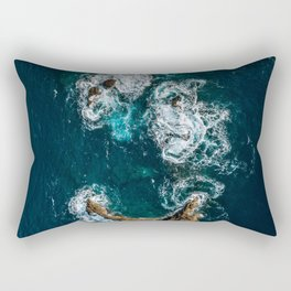 Sea Smile - Ocean Photography Rectangular Pillow