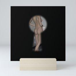 Keyhole Voyeur Nude Female Mini Art Print