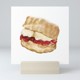 Cornish Cream Tea Mini Art Print