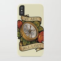 compass iPhone & iPod Cases featuring Compass by hvelge