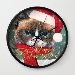 ~ Meowy Christmas ~ Wall Clock