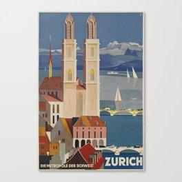 Zurich Placard Canvas Print
