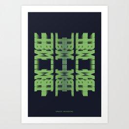Symmetry: SpaceInvaders Art Print