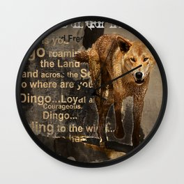DINGO IN THE WILD Wall Clock
