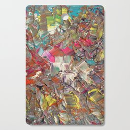 Abstract Acrylic Palette Knife painting Cutting Board