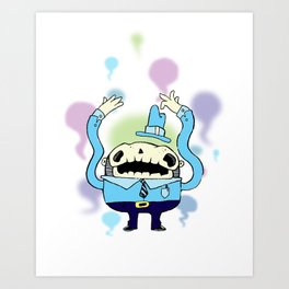 Spooky Man Art Print