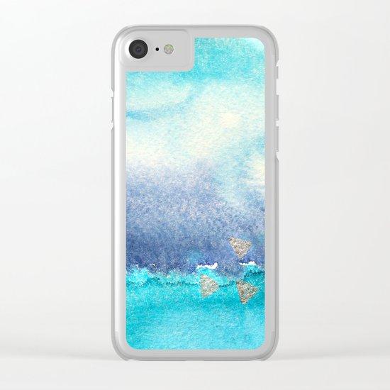 Vibrant horizon || watercolor Clear iPhone Case