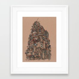 Monument to the Collector Framed Art Print