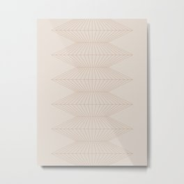 Abstract Geometric Lines XI Metal Print