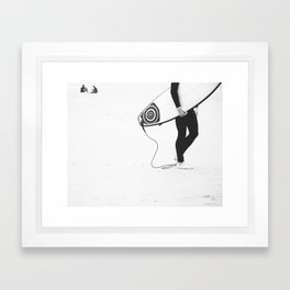 catch a wave V Framed Art Print
