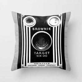 Ben-Day Kodak Brownie Camera  Throw Pillow
