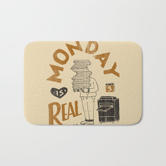 Monday is Real Bath Mat