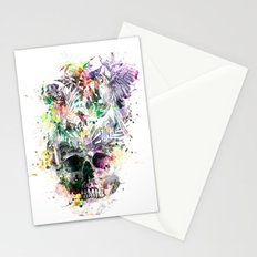 Skull - Parrots 2 Stationery Cards