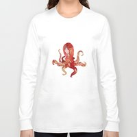 watercolour Long Sleeve T-shirts featuring octo by Okti