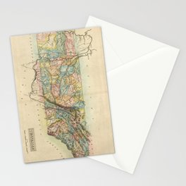 Vintage Map of Tennessee (1822) Stationery Cards