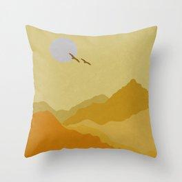 Shades of Desert Throw Pillow