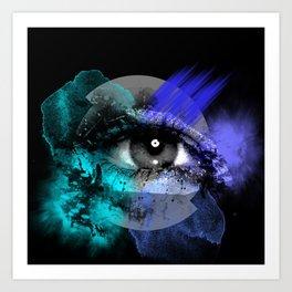 Eye of a color Art Print