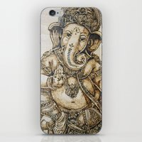 ganesh iPhone & iPod Skins featuring Ganesh by artbyolev