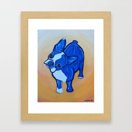 Blue Boston Framed Art Print