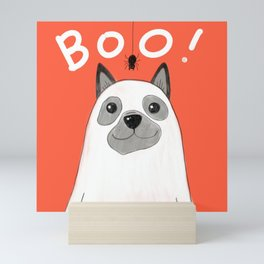 Boo doggie Mini Art Print