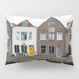 Row houses and Canal in The Netherlands Pillow Sham