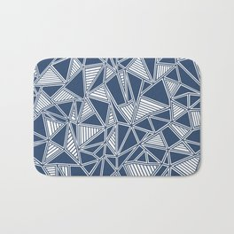 Abstract Outline Lines Navy Bath Mat