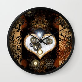 Steampunk, beautiful heart Wall Clock