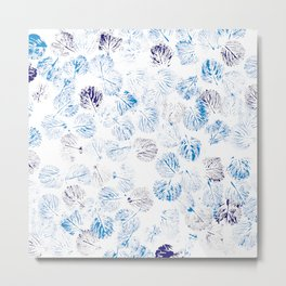 deep blue foliage Metal Print