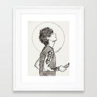 louis Framed Art Prints featuring Louis by harrydoodles