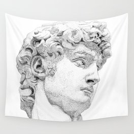 Profile of David statue by Miguel Angel Wall Tapestry