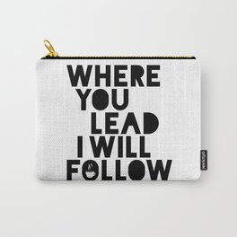 Gilmore Girls Where You Lead Theme Song Carry-All Pouch