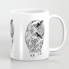 Northern white-faced owl tilted neck Coffee Mug