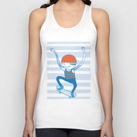 skate Tank Tops featuring Skate by Devin Soisson