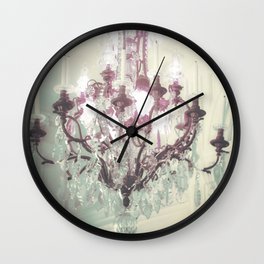Chandelier Print -Rose Cliff Mansion, Newport Rhode Island Wall Clock