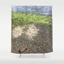Coastal Algae Shower Curtain