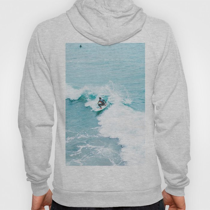Wave Surfer Turquoise Hoody