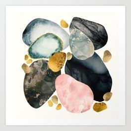 Pebble Abstract Art Print