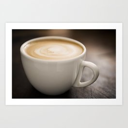 Creamy Coffee Art Print