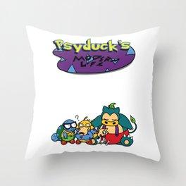 Psyduck's Modern Life. Throw Pillow