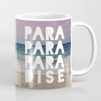 paradise Mugs featuring PARADISE by Leah Flores