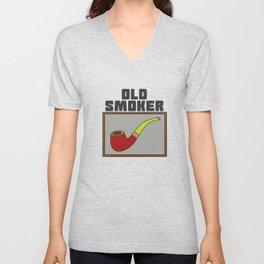 Pipe Smoking T-Shirt For Pipe Smoker Old smoker Unisex V-Neck