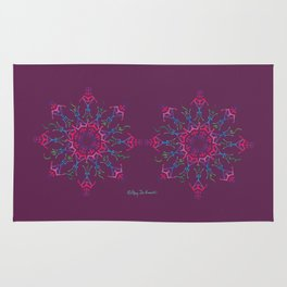 Breathe In & Out Mandala x 2 - Wine Rug