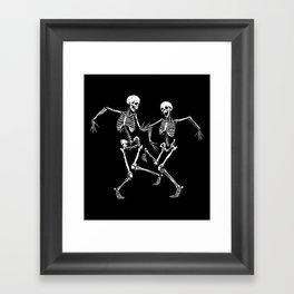 Dancing Skeleton Couple Framed Art Print