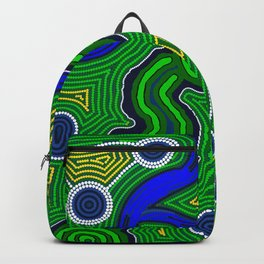 Authentic Aboriginal Art -The Inland Rail Backpack